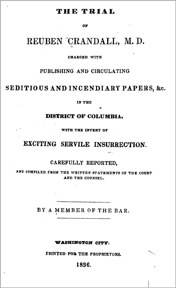 Click image to see full trial document at the Library of Congress online.