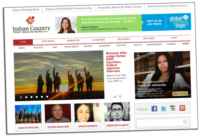 Indian Country News (Website) | Zinn Education Project: Teaching People's History