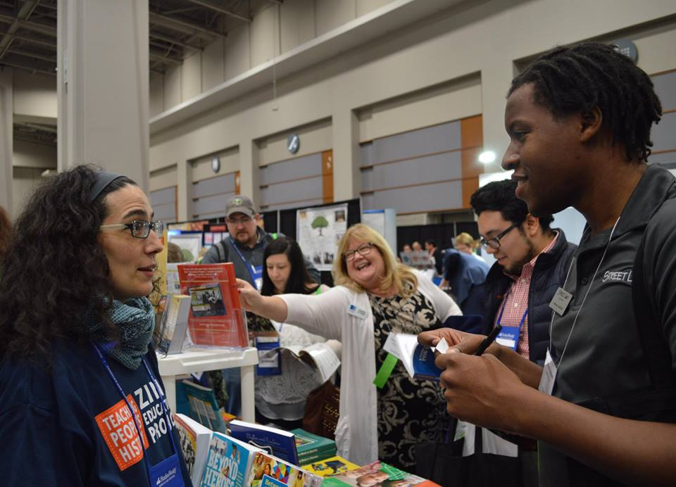 Busy booth at NCSS 2016 | Zinn Education Project: Teaching People's History
