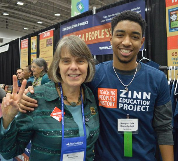 Mary Beth Tinker and Narayan Felix at NCSS 2016| Zinn Education Project: Teaching People's History