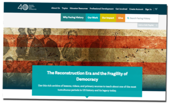 The Reconstruction Era and the Fragility of Democracy (Website)   Zinn Education Project: Teaching People's History
