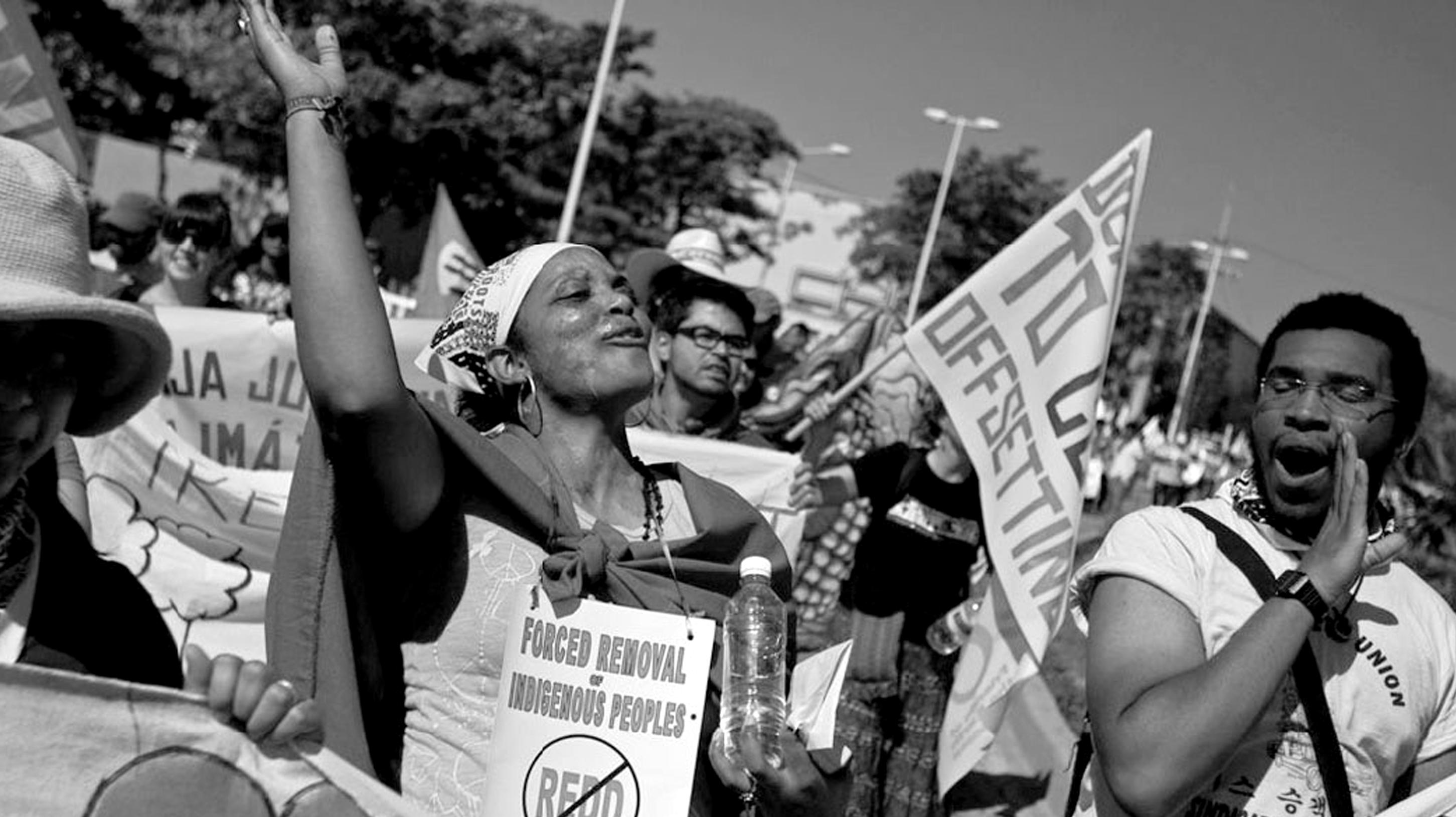 Indigenous people demonstrate at the 2010 climate change summit in Cancun. Image: Kari Koch.