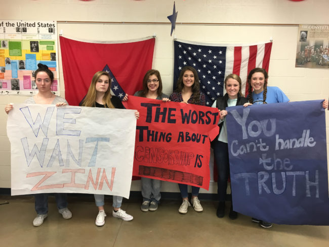 Arkansas students high school students oppose Zinn book ban | Zinn Education Project: Teaching People's History