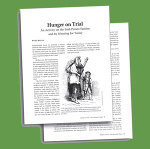 'Hunger on Trial' Lesson at the Annual Great Hunger Commemoration | Zinn Education Project: Teaching People's History