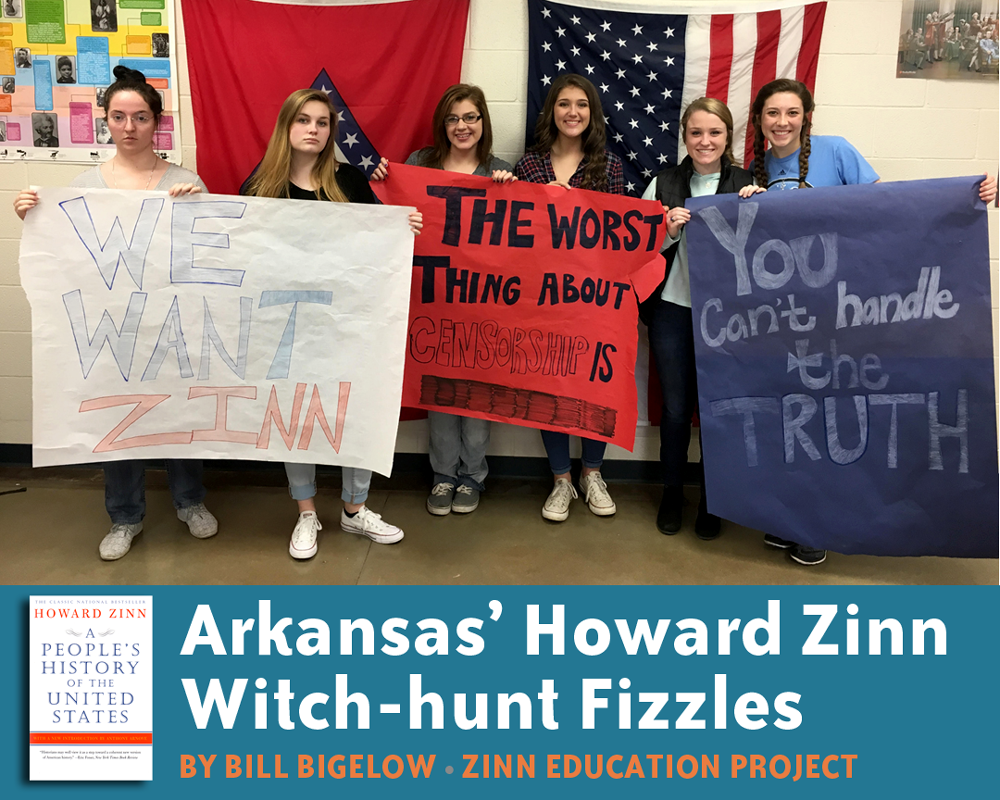 Arkansas' Howard Zinn Witch-hunt Fizzles (Article) | Zinn Education Project: Teaching People's History