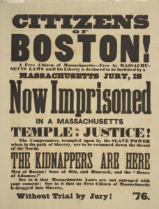 Poster protesting the Fugitive Slave Act in Boston | Zinn Education Project: Teaching People's History