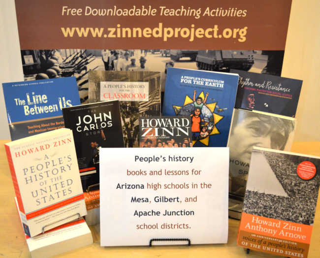 People's history books sent to Arizona | Zinn Education Project: Teaching People's History