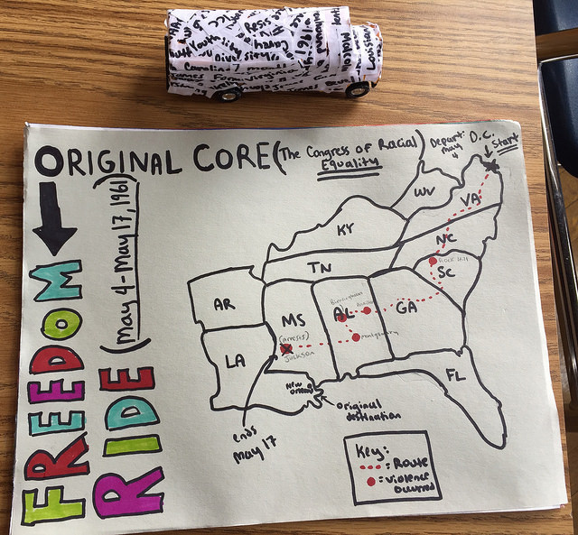 CORE map and bus (student project) | Zinn Education Project: Teaching People's History