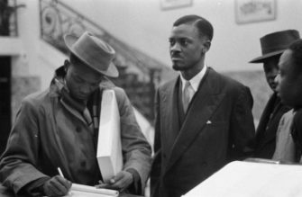 Lumumba at the 1960 Round Table conference | Zinn Education Project: Teaching People's History