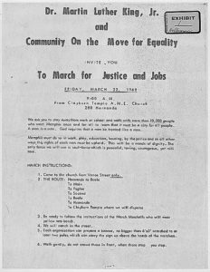 March for Justice and Jobs Flyer