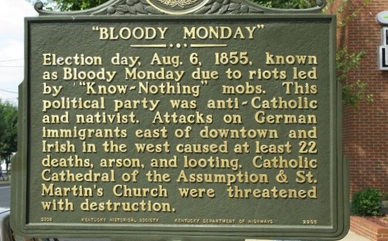 Bloody Monday Kentucky 1855