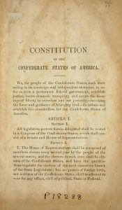 Constitution of the Confederate States of America | Zinn Education Project