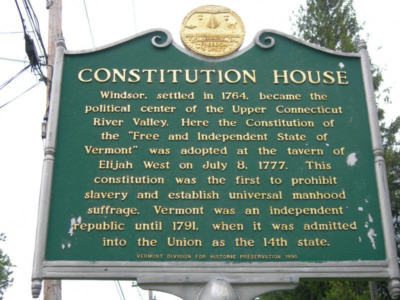Vermont Abolish Slavery Plaque