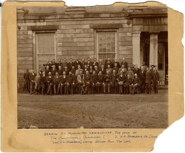 Session of Mississippi Legislature 1890