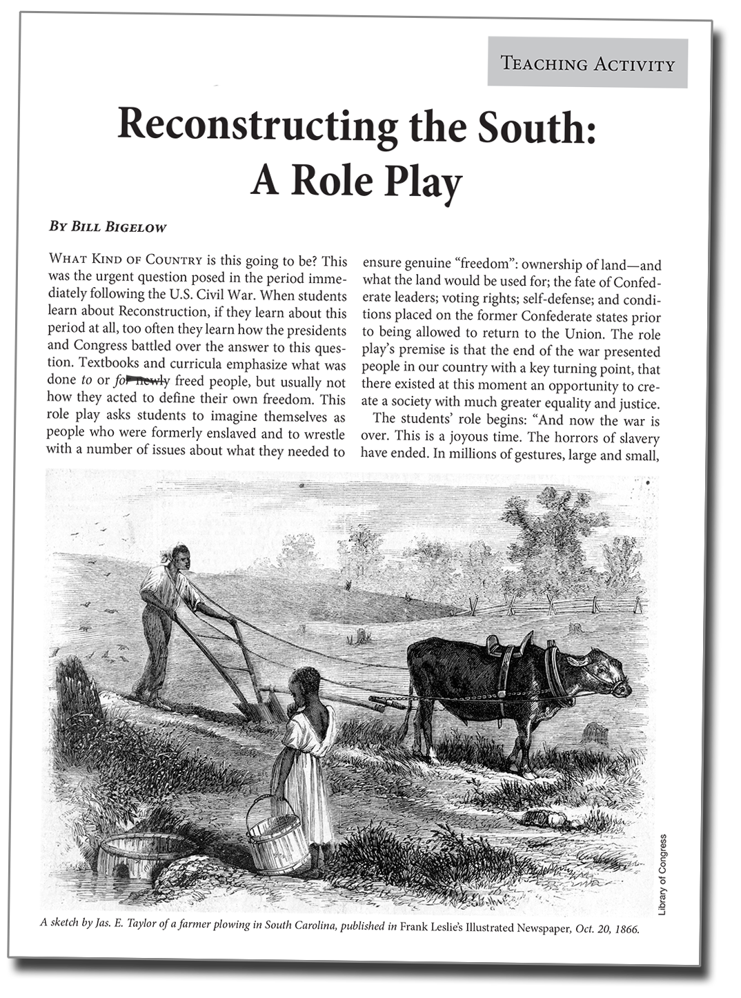 Reconstructing the South: A Role Play (Lesson) | Zinn Education Project