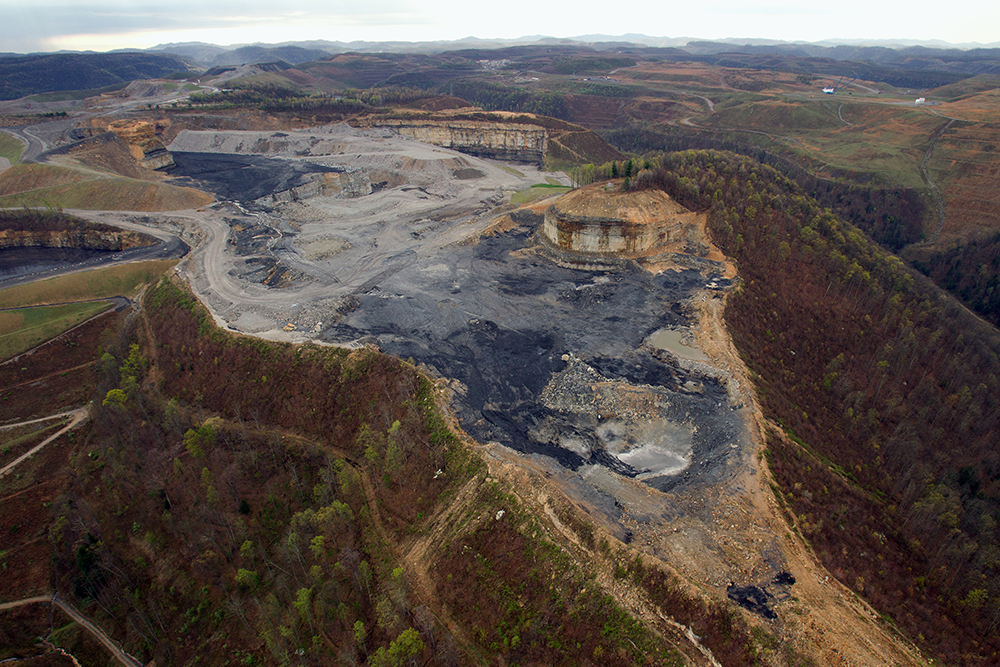 Aerial photo of mountaintop removal | Zinn Education Project