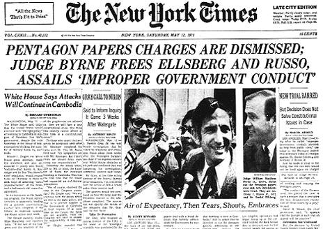 Pentagon Papers Charges Dismissed | Zinn Education Project
