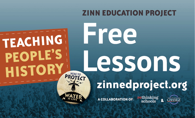 Zinn Education Project Web Banner - Download to Post on Your Website