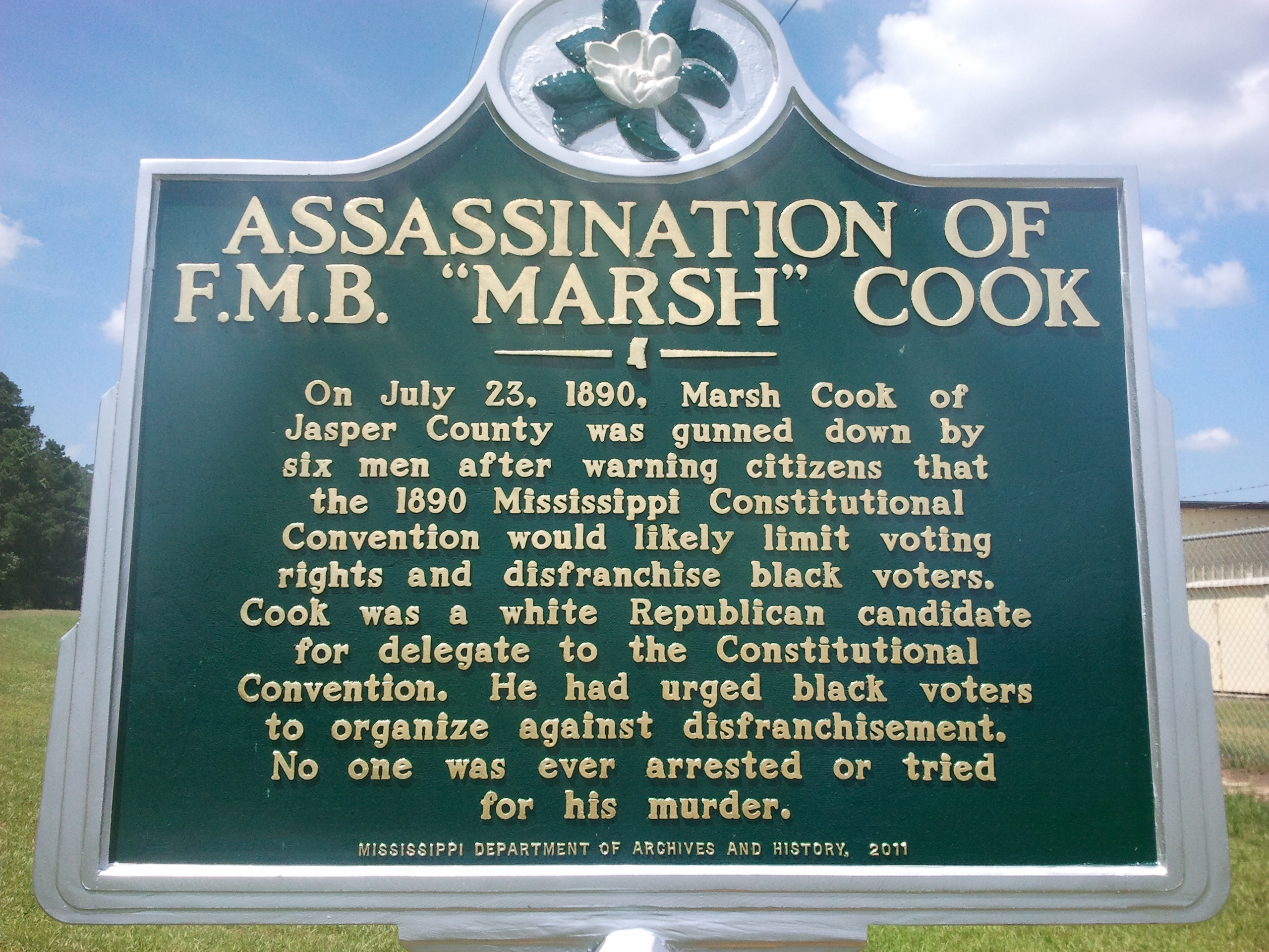"F.M.B. ""Marsh"" Cook 