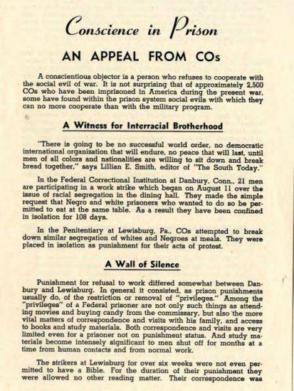 Conscientus Objectors 1943 | Zinn Education Project