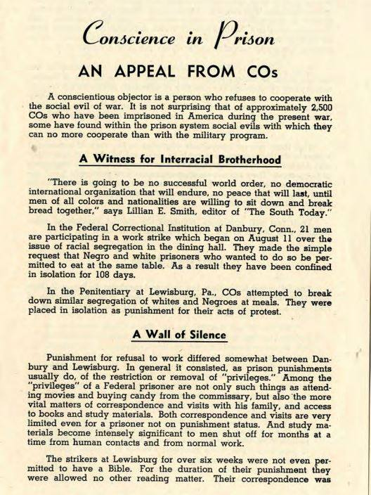 Conscientus Objectors 1943 | Zinn Education Project
