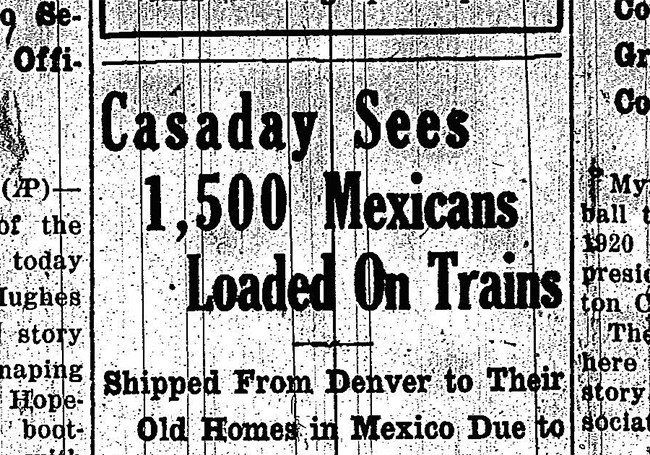 Deportations - 1500 Mexicans Loaded on Trains | Zinn Education Project