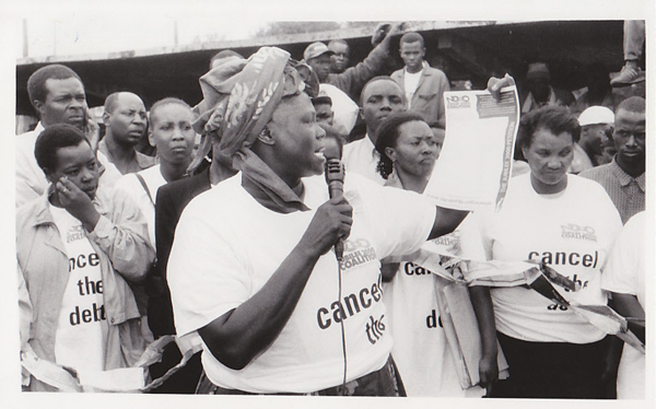 Wangari Maathai - Cancel the Debt Protest | Zinn Education Project