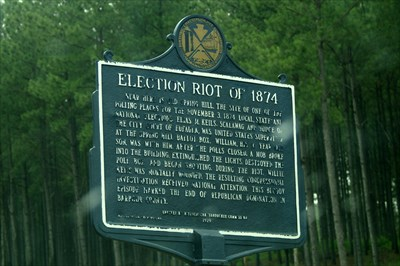 Election Riot of 1874 Location Marker | Zinn Education Project