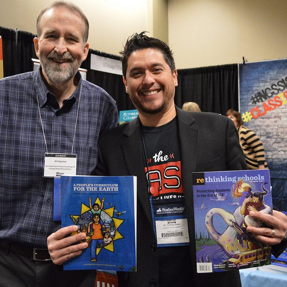 Bill Bigelow and Tommy Ender at NCSS 2018 (Event Photo) | Zinn Education Project