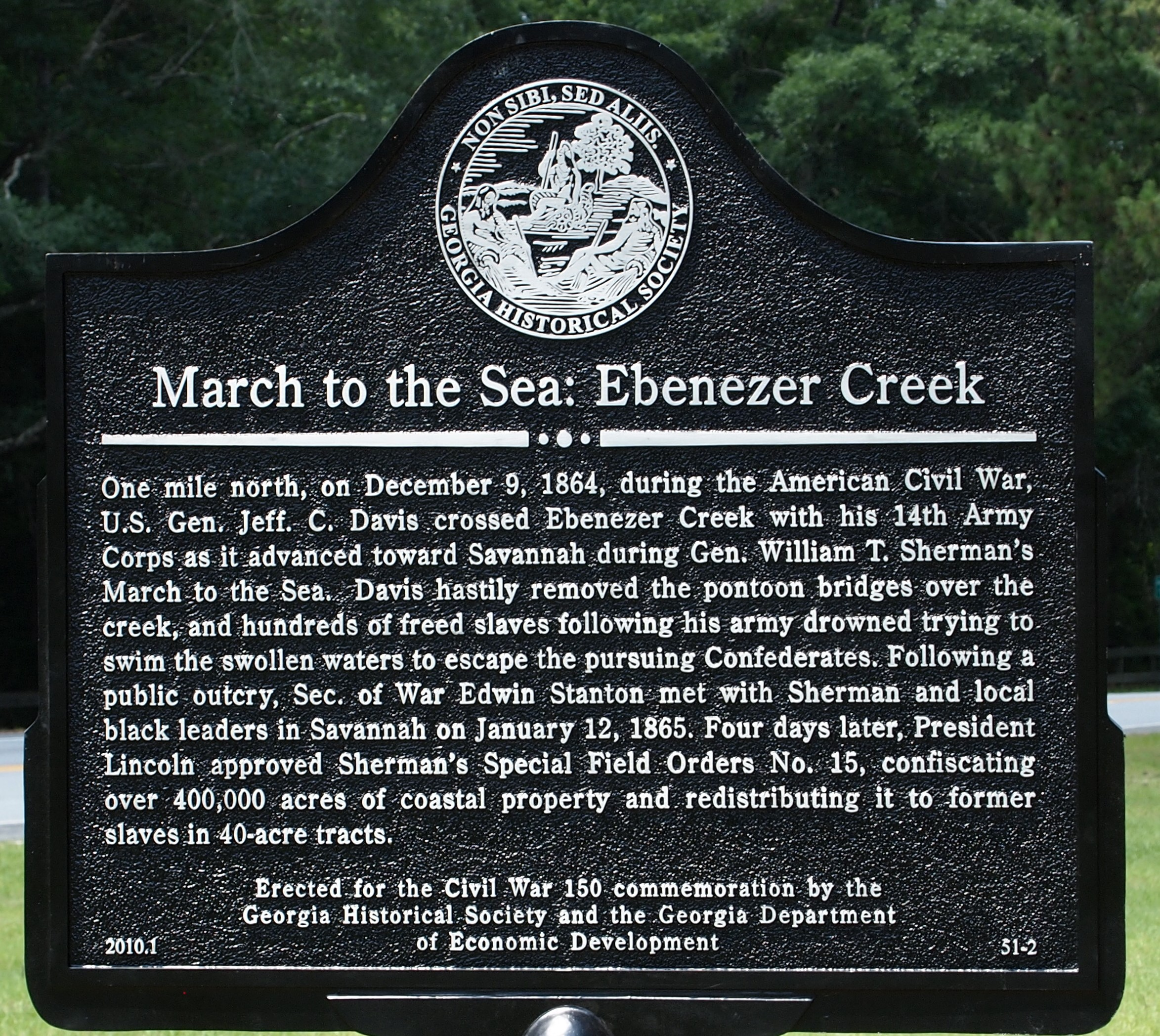 Ebenezer Creek Marker