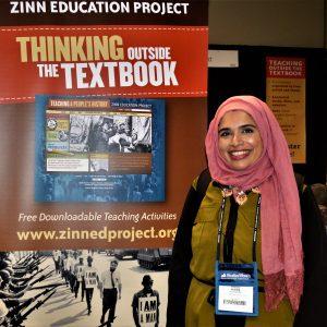 Juveriya Mir at NCSS 2018 (Event Photo) | Zinn Education Project
