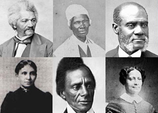collage of six Black abolitionists in the United States.