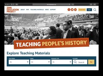 New Website Screenshot | Zinn Education Project