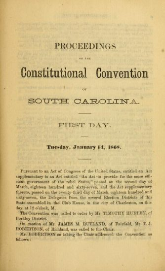 SC Convention Proceedings