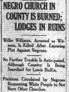 News clipping covering the Jenkins Co Georgia Riot of 1919