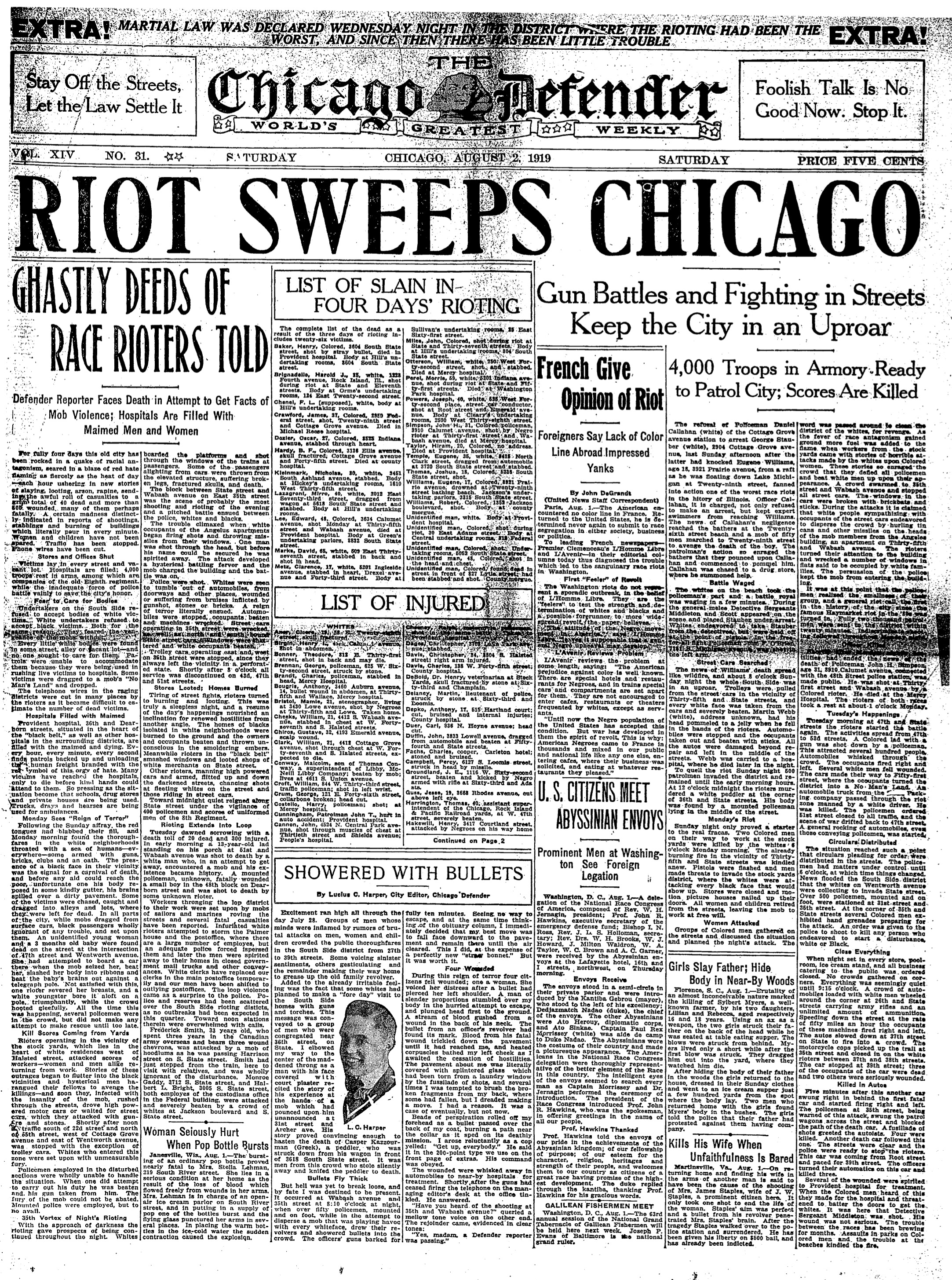 July 27, 1919 Newspaper Riots in Chicago | Zinn Education Project