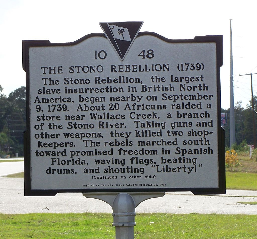 The Stono Rebellion Marker (photo) | Zinn Education Project