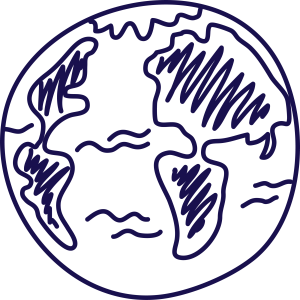 Earth illustration - Purple | Zinn Education Project