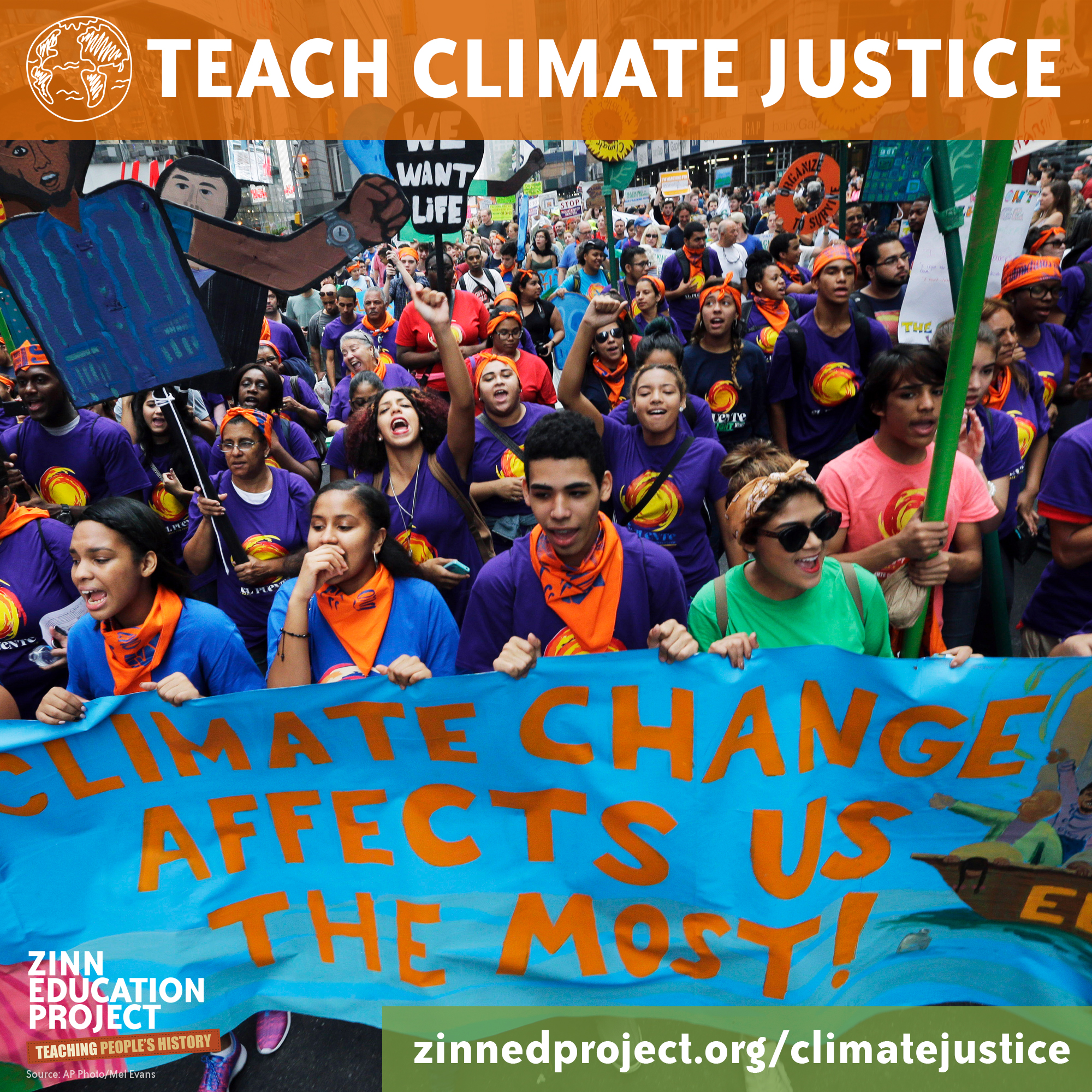Teach Climate Justice (Square) | Zinn Education Project