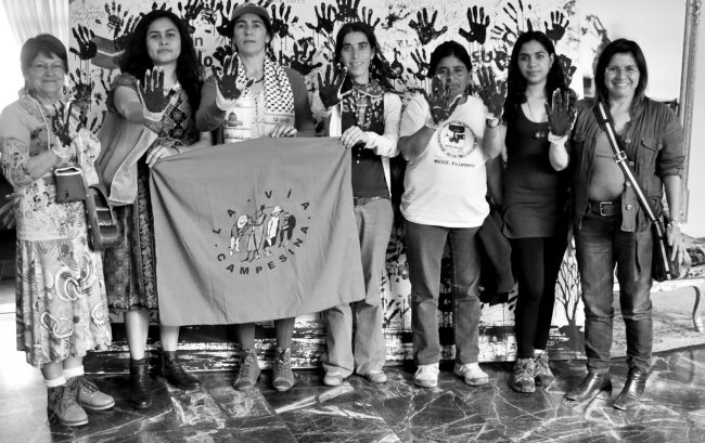 Photo of La Via Campesina women by Tineke D'Haese