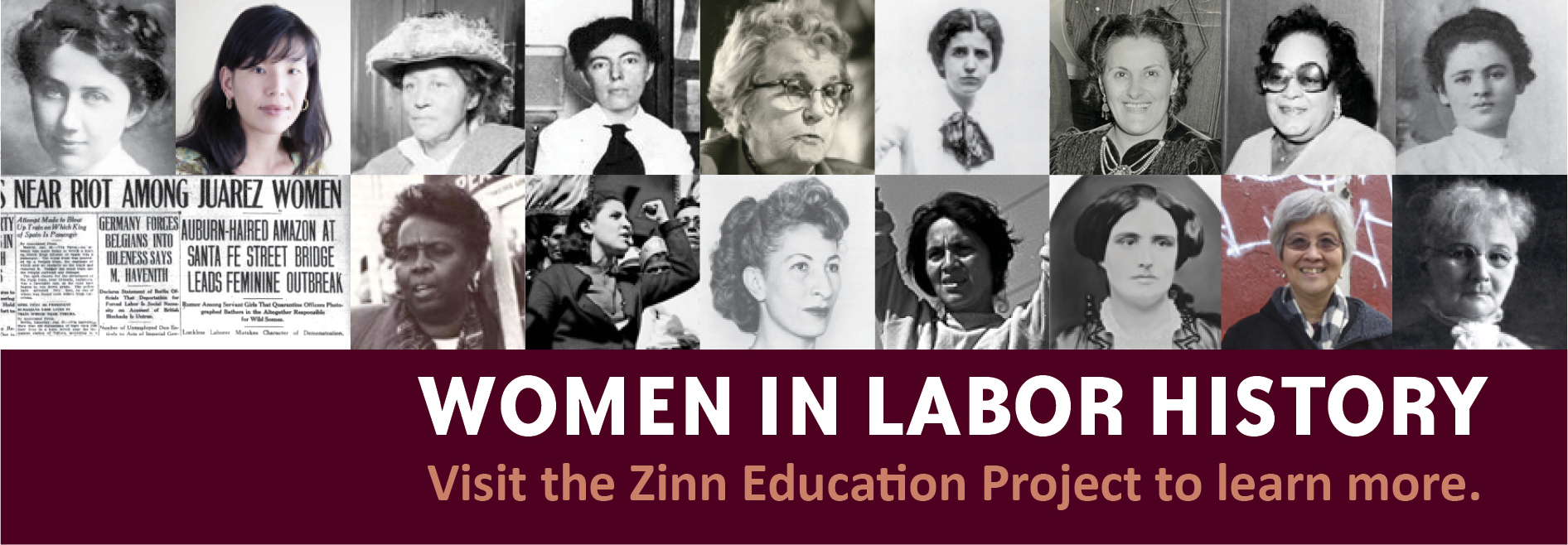 Women in Labor History Banner | Zinn Education Project