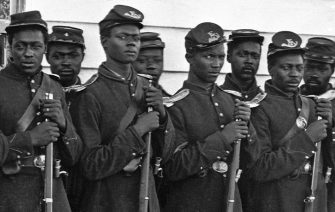 Company E 4th U.S. Colored Infantry at Fort Lincoln Photo