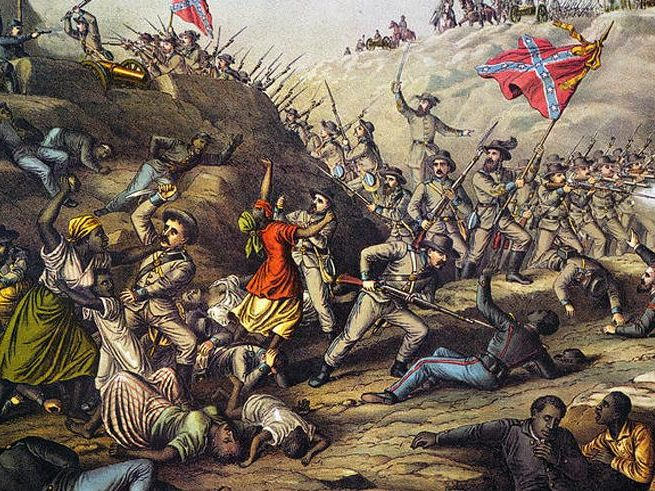Fort Pillow Massacre, by Katz & Allison. Source: Library of Congress via Equal Justice Initiative