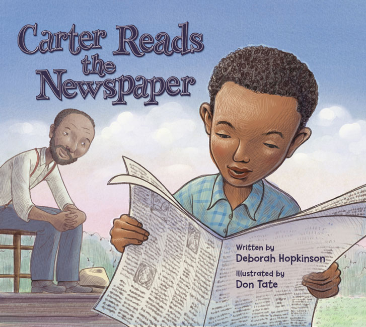 Carter Reads the Newspaper book cover | The Zinn Education Project