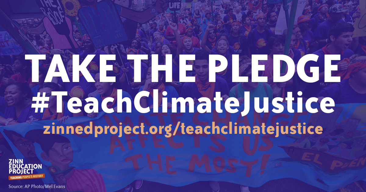 Take the pledge to teach climate justice to your students