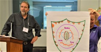 Bill Bigelow, facilitating the People's Curriculum for the Earth workshop in Washington, DC.