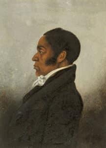 Side profile portrait of James Forten